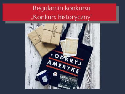 "Regulamin konkursu ""Konkurs historyczny"""
